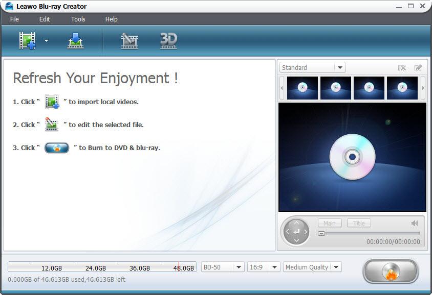 Blu ray Creator for Windows - Burn Video to blu ray/DVD